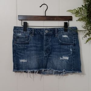American Eagle Outfitter Button Fly Denim Skirt 6